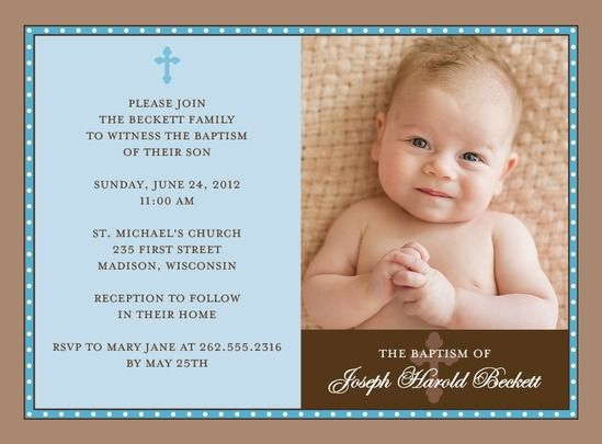 BLUE CROSS PHOTO BAPTISM INVITATIONS: AIR WALKBAPTISM, CHRISTENING INVITATIONS