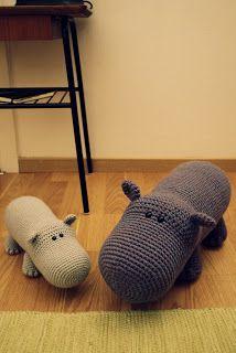 crochet happy hippos by Mia Bengtsson
