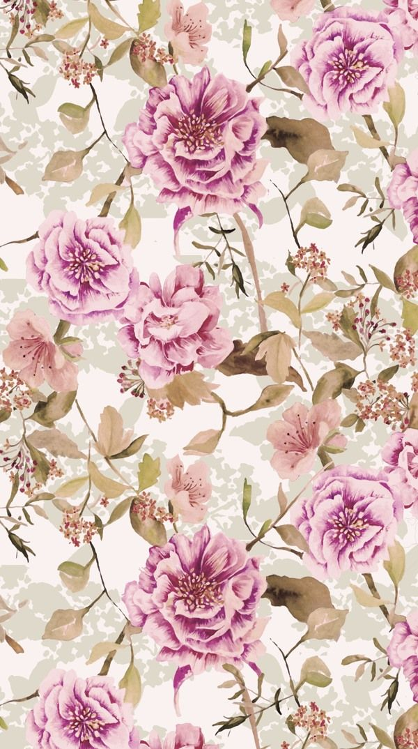 Dreamy Florals by Natalia Gemma, via Behance