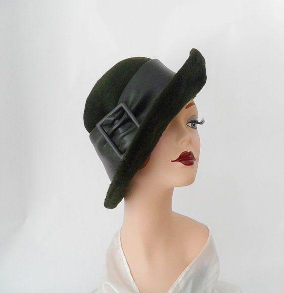1960s Italian hat/ vintage faux fur/ Jami by TheVintageHatShop