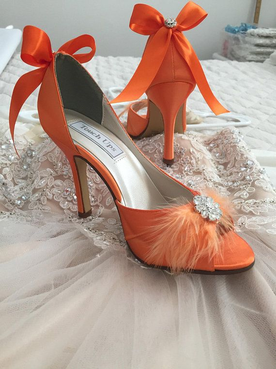 2bd5d8c9850 Orange Wedding Shoes - Bridal Shoes - Wedding Shoe Orange - Orange ...