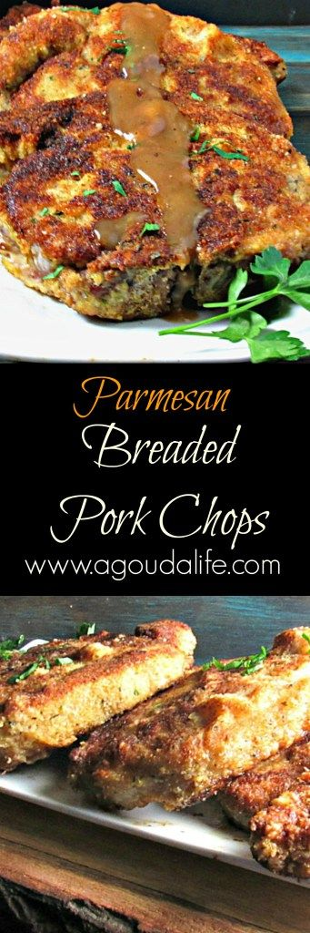 Parmesan Breaded Pork Chops: dry-brined tender pork in an easy, classic comfort dish.