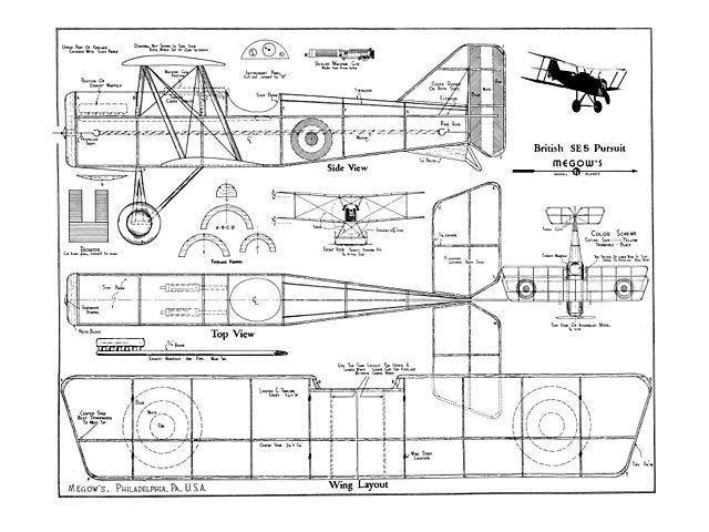 free vintage model aircraft blueprint