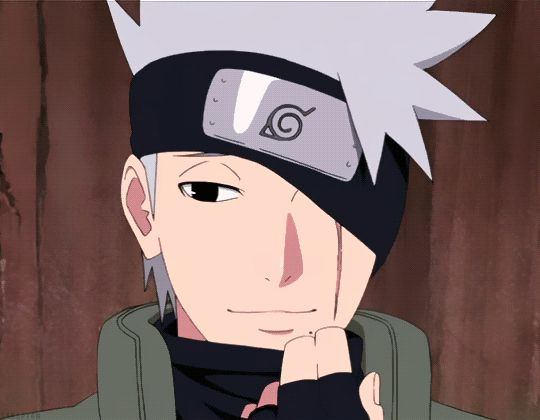 DO YOU KNOW HOW LONG IVE WAITED FOR THIS GIF IEHSUAKSISBDKBSUS KAKASHI I LOVE YOU ❤️