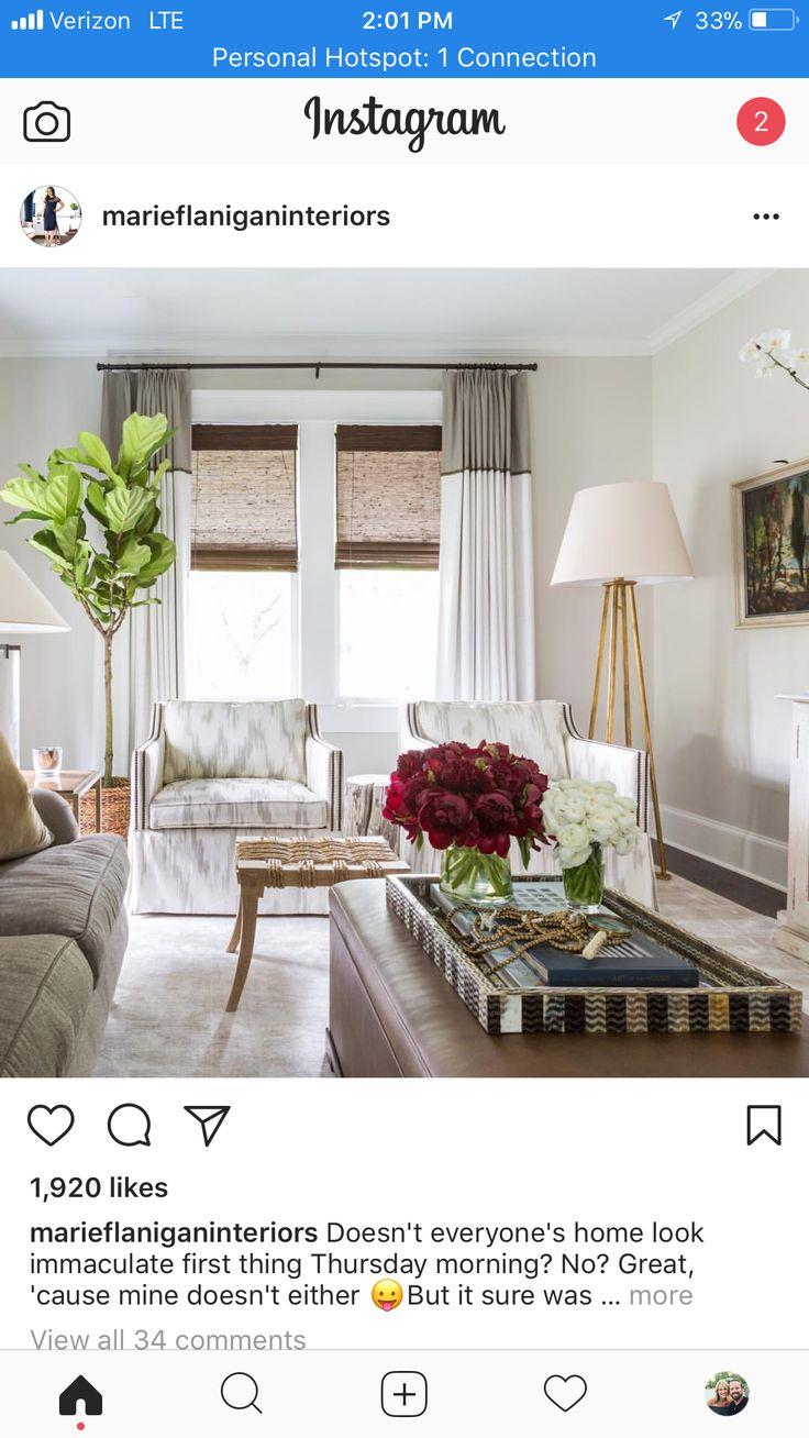 Interior Design Living Room, Window Treatments, Window Dressings, Window  Coverings, Sheet Curtains