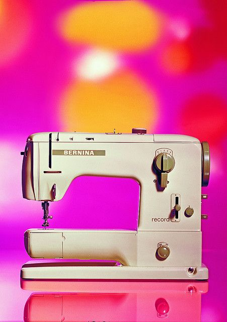 My vintage Bernina - when she was new.