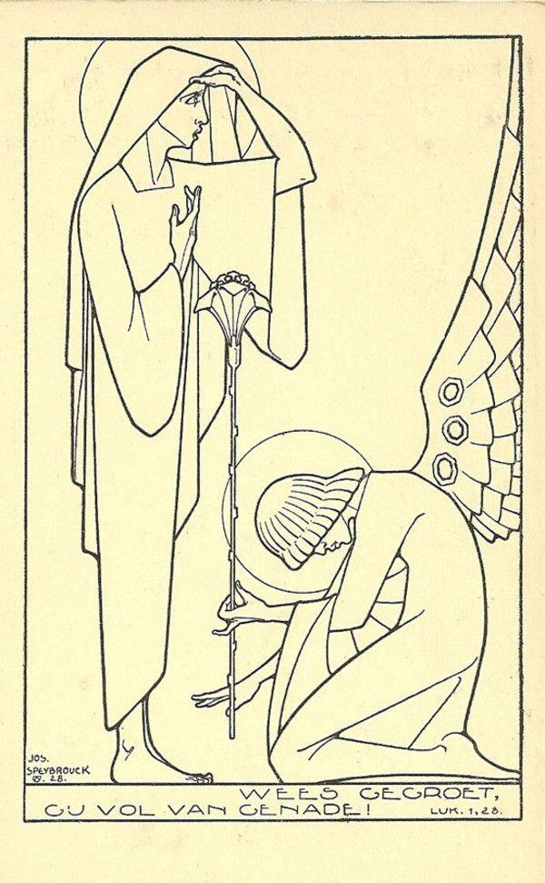 The Annunciation, Jos Speybrouck, art deco