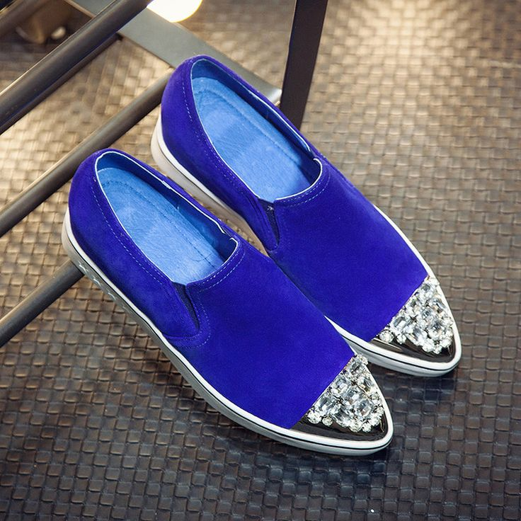 2017 Flat Shoes Woman Genuine Leather Sheepskin Woman Designer Shoes Flats Ladies Slip On Loafers Rhinestones Shoes For Women