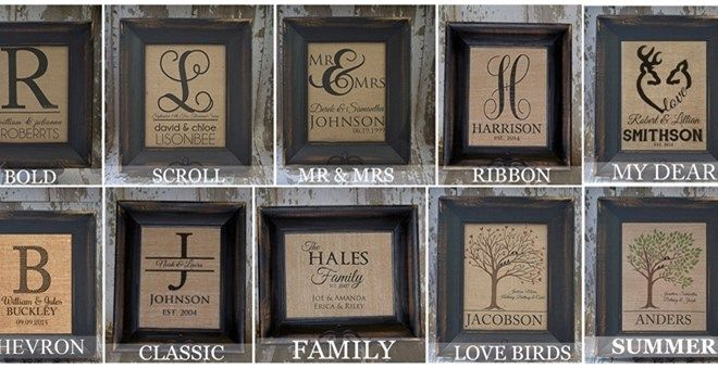 Personalized Rustic Chic Burlap Wall Decor! 10 Designs to Choose From!