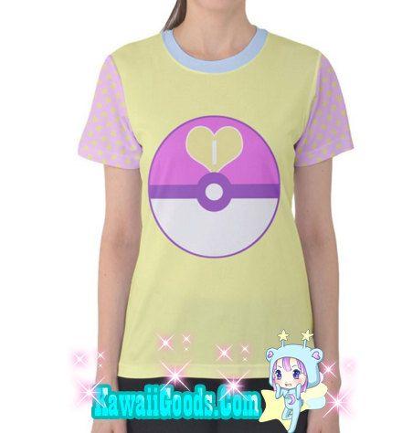 Poke Ball Tee Love pokeball Top Pokemon Top Pokemon by kawaiigoods