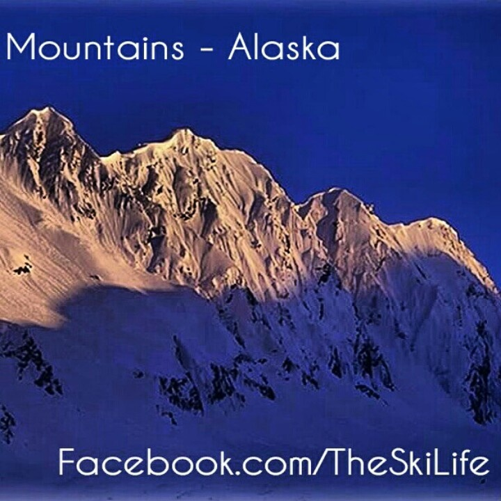 The Ski Life - http://facebook.com/theskilife #ski #skiing #snowboarding #snowboard #powder #snow #winter #freeski #alaska #mountains #alpenglow #photooftheday #landscape