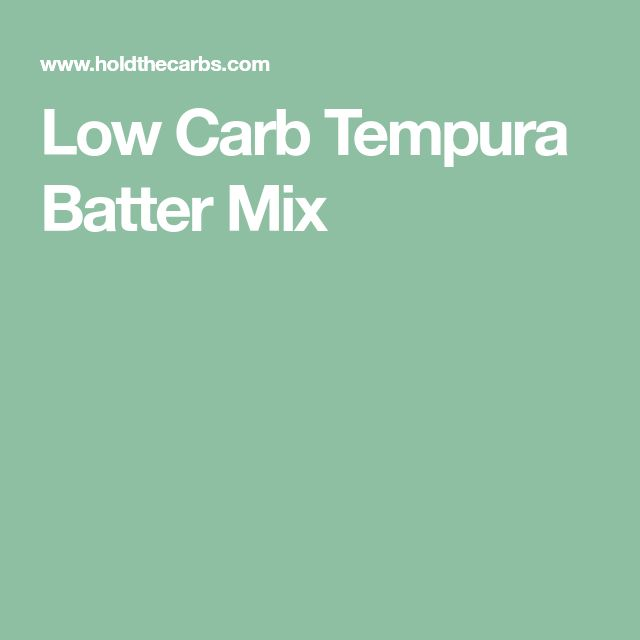 Low Carb Tempura Batter Mix