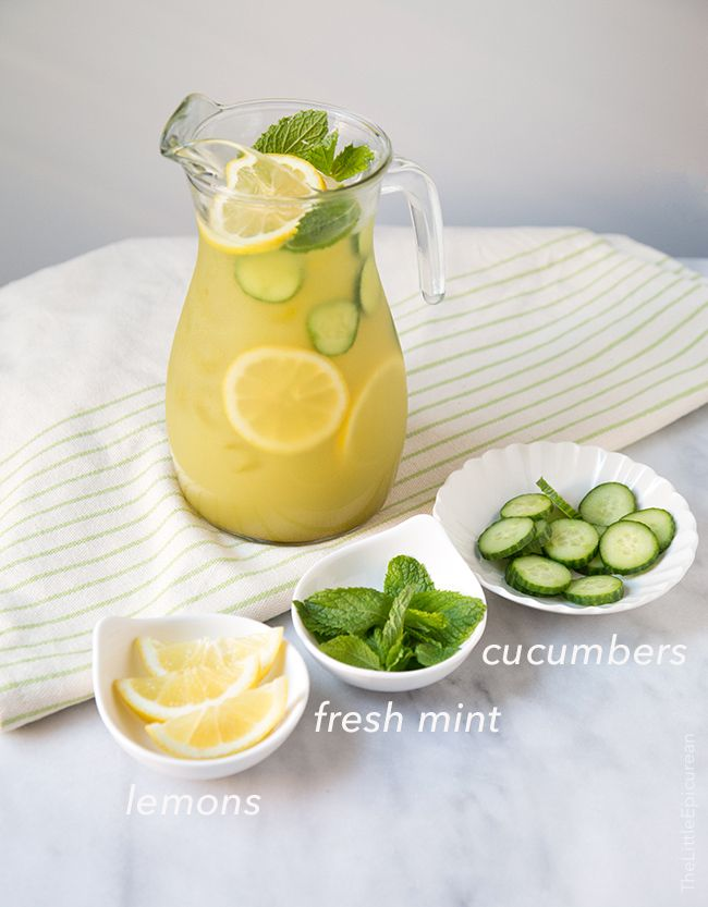 Cucumber Mint Lemonade via The Little Epicurean