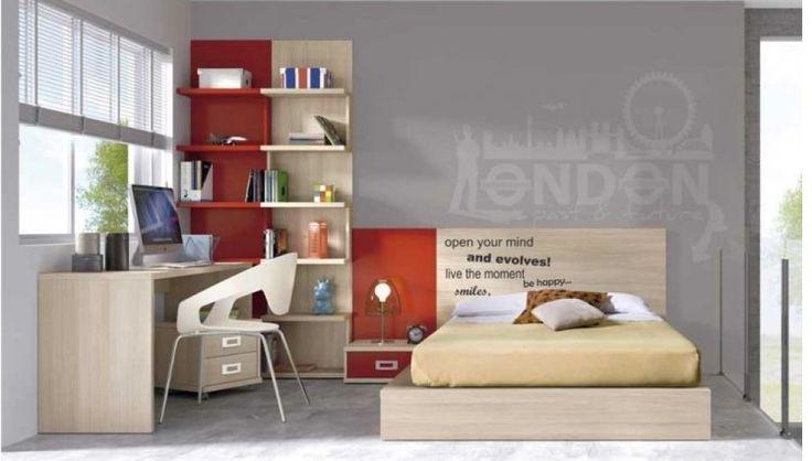 Camas y dormitorios juveniles vicente molla llacer for Dormitorio adolescente