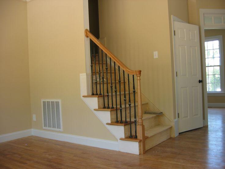 Best Stairway With Rail 4 Open Return Treads On Left Side Oak 400 x 300