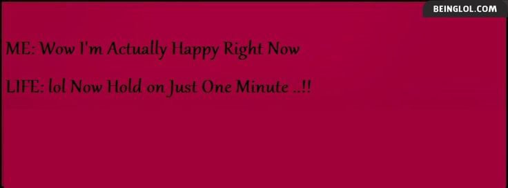 Hold on Just one Minute Facebook Timeline Cover