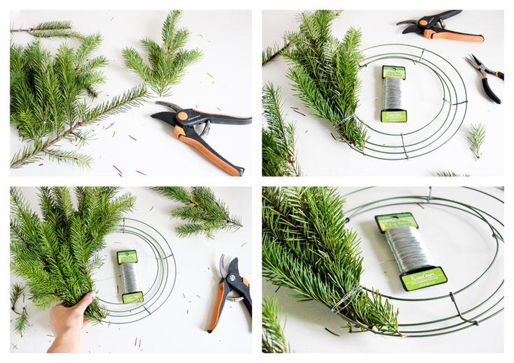 Basic Fresh Christmas Wreath Tutorial