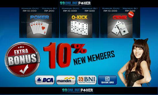 Bandar Ceme – 99onlinepoker adalah situs judi online yang terbaik mempersembahkan permainan Bandar ceme yang menggunakan uang asli