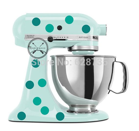 Polka Dot Decals Polka Dots Circle Vinyl Sticker For Your Kitchenaid Stand Mixer Decor Free Shipping #Affiliate