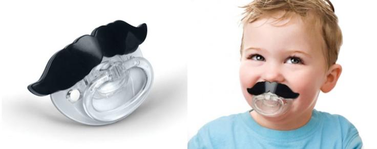 Bebê hipster: chupetas com bigodes!