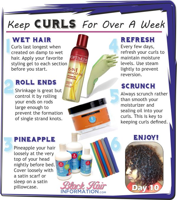 Keep Curls For Over A Week - BHI Postcard Tips — BlackHairInformation.com - Growing Black Hair Long And Healthy