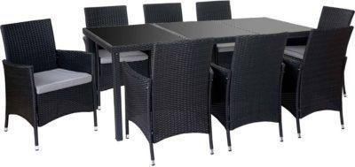 heute-wohnen Poly-Rattan-Garnitur Terni, Garten Sitzgruppe Tisch + 8 Sessel, Alu Jetzt bestellen unter: https://moebel.ladendirekt.de/garten/gartenmoebel/gartenmoebel-set/?uid=38d87718-0c78-5db4-9ed4-706c63de7978&utm_source=pinterest&utm_medium=pin&utm_campaign=boards #garten #gartenmoebel #gartenmoebelset