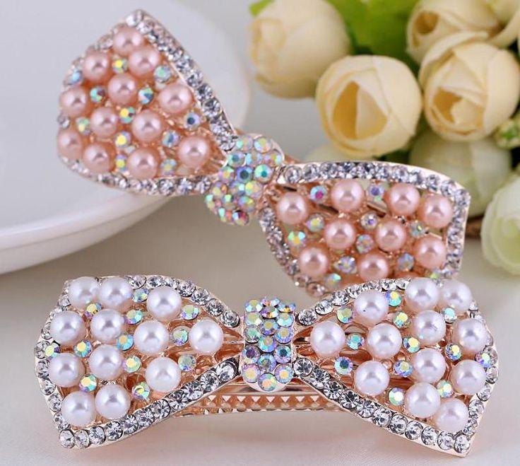 Bridal Pink Pearl Hair Accessory