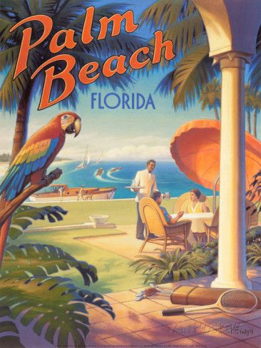 Palm Beach, Florida Poster von Kerne Erickson bei AllPosters.de