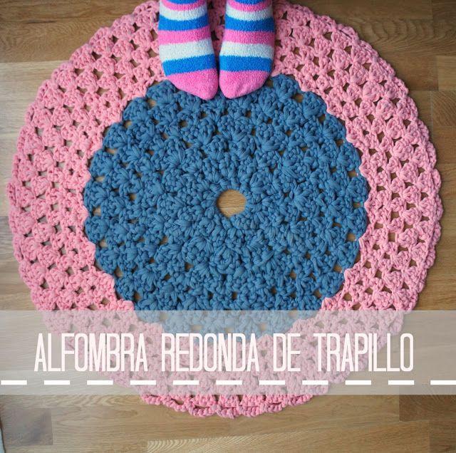 Pinafili diy alfombra redonda de trapillo trapillo - Alfombras de trapillo ...
