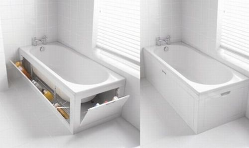 Storage in tub