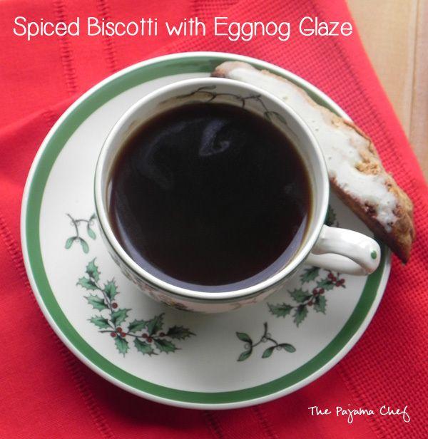 Spiced Biscotti with Eggnog Glaze | thepajamachef.com #mysterydish ...