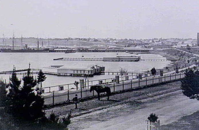 Western Beach approximately 110 years ago.