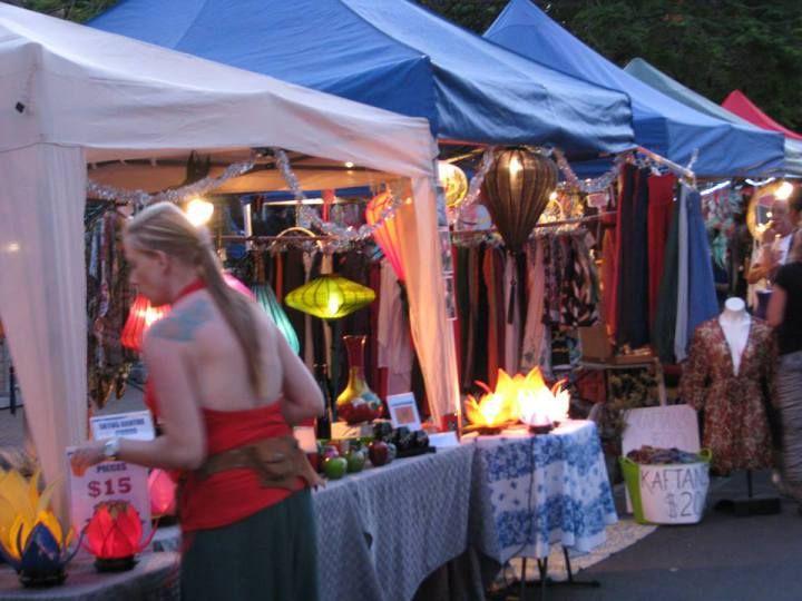 The night markets: 18 things to do in Brunswick Heads, NSW, Australia near Byron Bay.