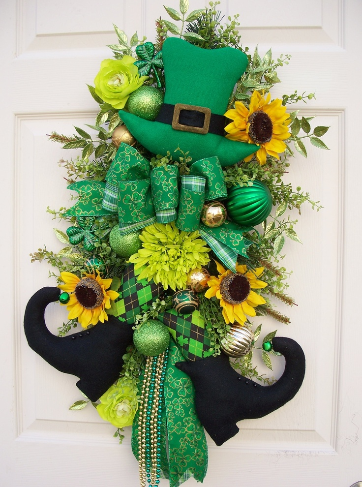 St patrick 39 s day swag saint patrick 39 s day pinterest for Decoration saint patrick