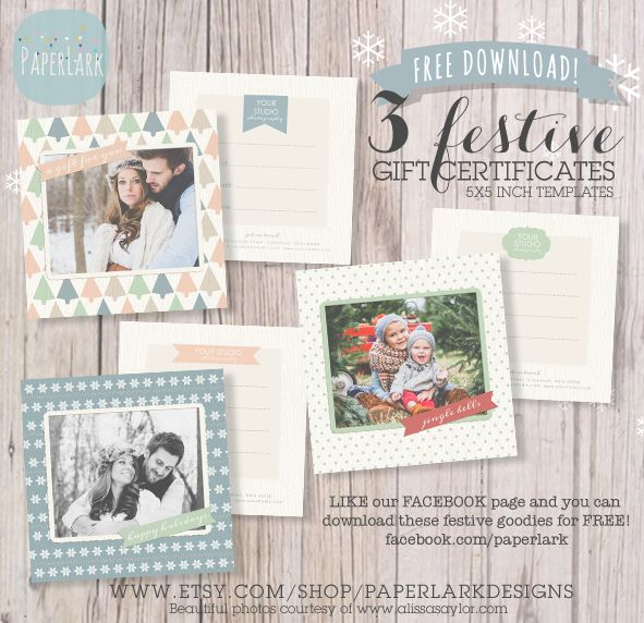 9 best gift card images on Pinterest Photography marketing, Gift - gift certificate template pages