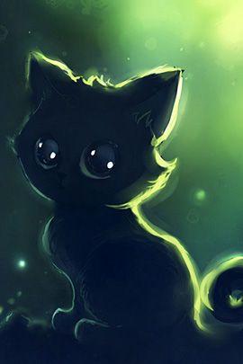 Süße kleine Katze mit GLUBSCHAUGEN
