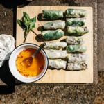 Camp food like you've never seen before: nom on these addictive lemongrass beef salad rolls!