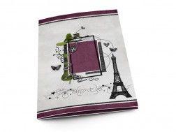 Menu mariage - Paris – papillons pourpres et tour Eiffel