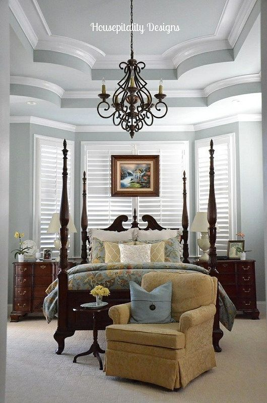 master bedroom with beautiful architectural details from katherines corner - Beautiful Bedroom Decor