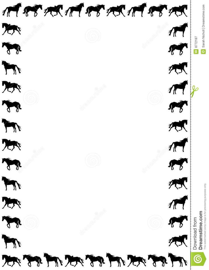 Horse Border | horse clip art | Pinterest | Horses and ...