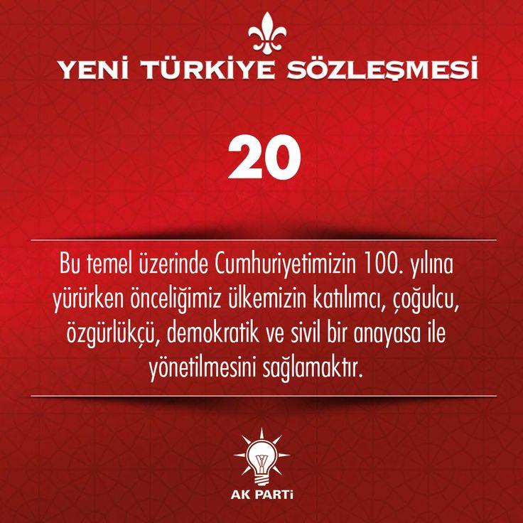 20.Madde, #YeniTürkiyeSözleşmesi