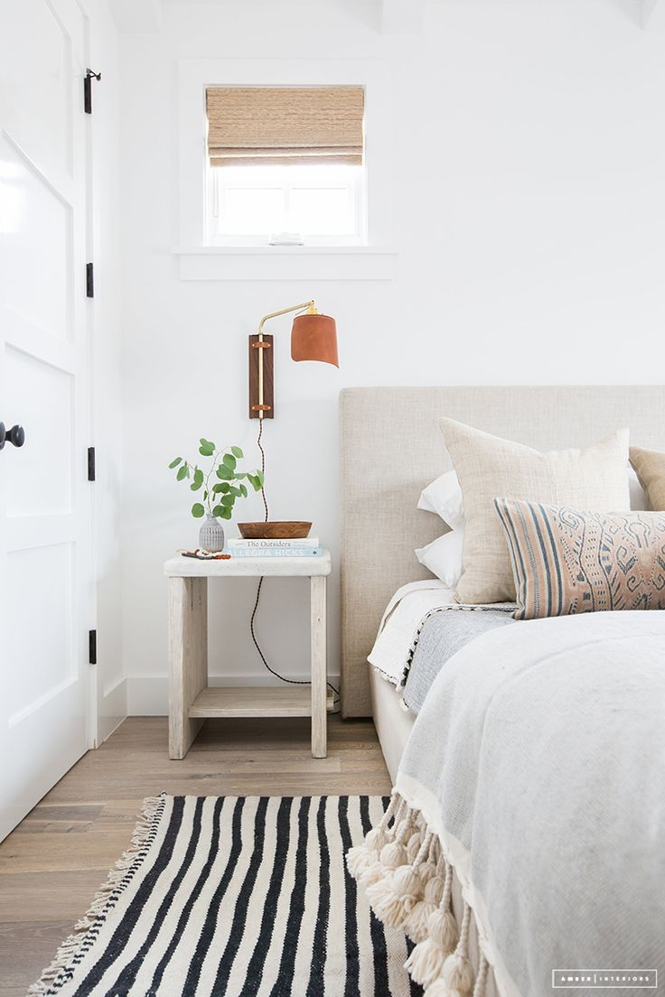 bedroom (love the tassels and stripes!)