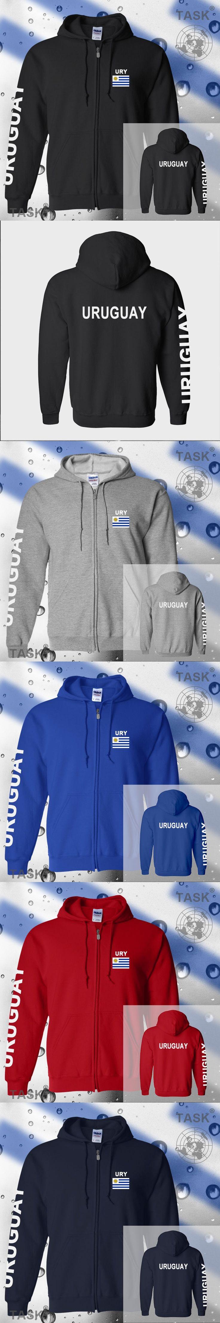 Uruguay Uruguayan mens hoodies and sweatshirt casual polo sweat new streetwear tracksuit nations fleece zipper flag 2017 URY UY