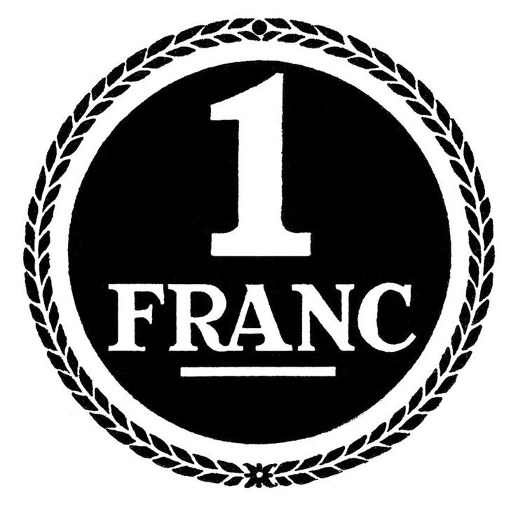 Image Transfer Printable - French Franc - The Graphics Fairy
