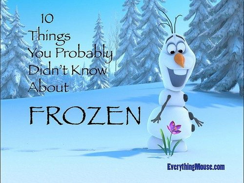 Here are 10 Things You Probably Didn't Know About Disney Frozen. Here are some fun facts about Disney's Frozen movie. How many did you know? Elsa's Hair Is Complicated We all love…