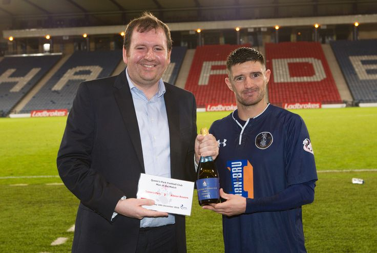 Queen's Park's Paul Woods Man of the match after the Ladbrokes League One game between Queen's Park and Albion Rovers.