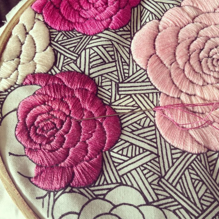 roses embroidery: