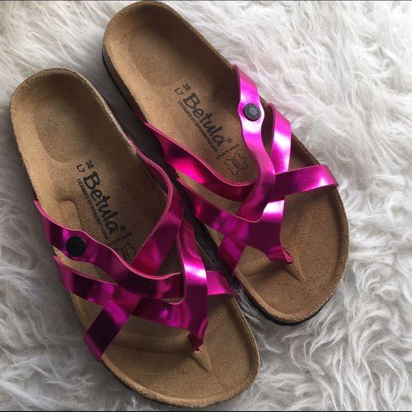 BIRKENSTOCK HOT PINK BETULA NEW SANDALS SHOES SZ 7 New Birkenstock Shoes