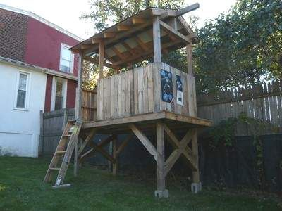 how to build a wooden fort