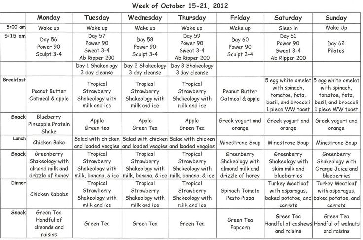 black girls workout too meal plan   ... that I am doing the cleanse, my meal plan is pretty basic this week